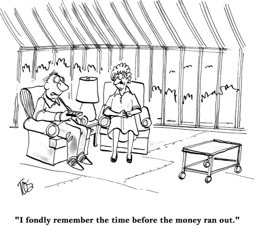before money ran out cartoon